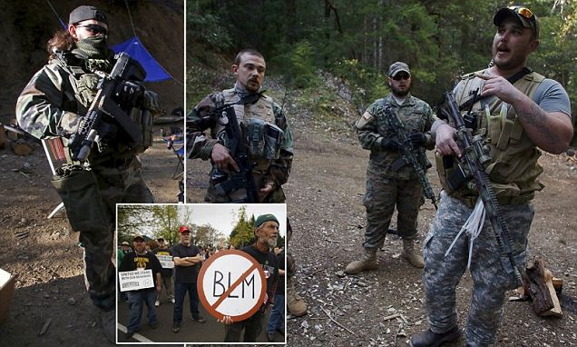 Oregon activists gather at Sugar Pine Mine after it was closed by BLM