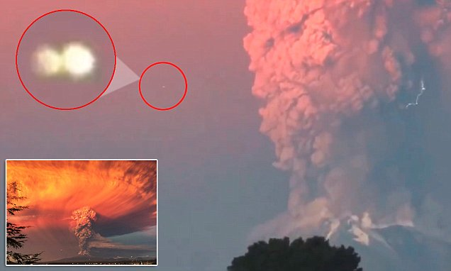 UFO seen near Chile's Calbuco volcano's ash cloud in video