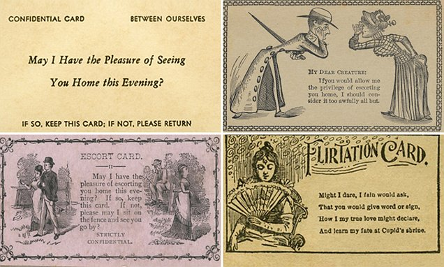 The 'flirtation cards' 19th-century men used to woo ladies
