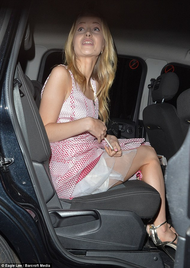 Party girl: Lottie is already enjoying early star status with a few celeb-attended bashes