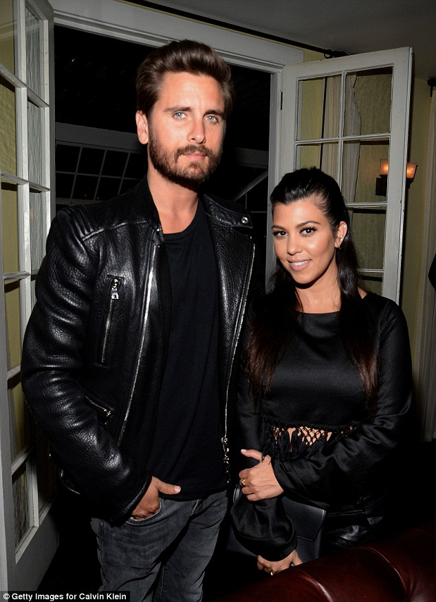 Date night: Kourtney and long-term love Scott Disick looked happy and relaxed as they enjoyed their night out together