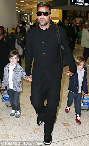 Seasoned Travellers! Matteo and Valentino arriving in Sydney for the live rounds of The Voice in June 2014