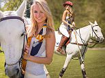 Mandatory Credit: Photo by Tom Dymond/REX Shutterstock (4705631m)  Kimberly Garner  La Martina Discover Polo, Surrey, Britain - 23 Apr 2015  Kimberly Garner learning to play to play polo at the La Martina Discover Polo Day ahead of Chestertons Polo in the Park taking place 5 - 7 June 2015