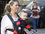 Claire Sweeney seen out in London today shopping with her 'miracle' baby\n\nPic: Greg Brennan 07930877317