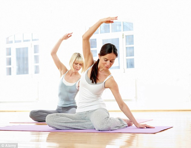 Experts recommend starting with low impact exercises such as Pilates to help rebuild muscles
