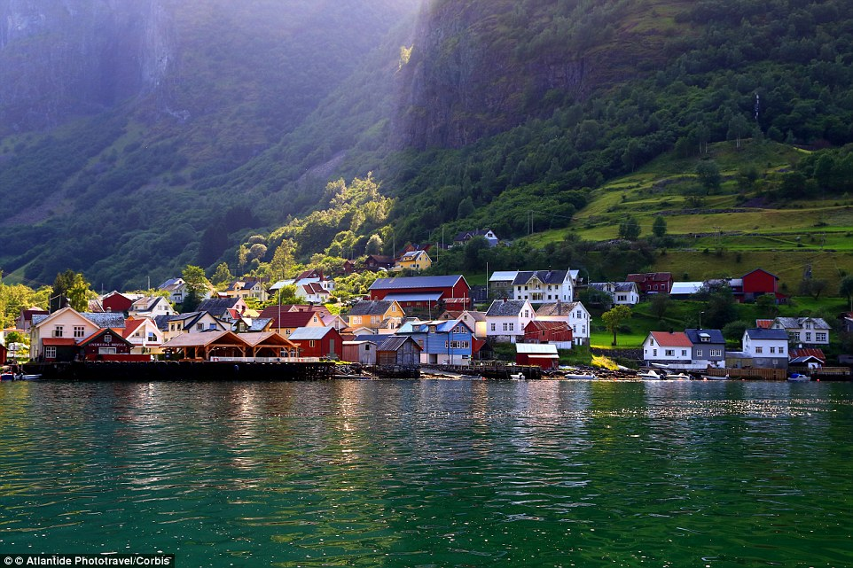 Fairytale village! Undredal is hidden in a narrow valleyin the Aurlandsfjord in Norway, and looks like something out of Disney movie