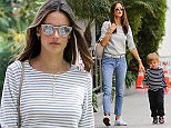 Alessandra Ambrosio goes to lunch in Brentwood with her son skipping alongside Featuring: Alessandra Ambrosio Where: Los Angeles, California, United States When: 23 Apr 2015 Credit: WENN.com