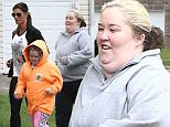 Picture Shows: Natasha Kufa, Alana 'Honey Boo Boo' Thompson, Lauryn 'Pumpkin' Shannon, June 'Mama June' Shannon  April 22, 2015\n \n ** Min Web / Online £150 For Set **\n \n 'Here Comes Honey Boo Boo' star Mama June Shannon gets a home visit from her personal trainer Natasha Kufa in Hammond, Georgia. Natasha showed June how to make several healthy meals and smoothies to help her reach her fitness goal of losing 100 pounds. She also taught her several exercises the family could do around the neighborhood. \n \n ** Min Web / Online £150 For Set **\n \n EXCLUSIVE ALL ROUNDER\n UK RIGHTS ONLY\n Pictures by : FameFlynet UK © 2015\n Tel : +44 (0)20 3551 5049\n Email : info@fameflynet.uk.com