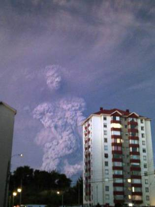 """Pic shows: The figure that looks like a human being, from the erupting Chile volcano.nnAn amazing photo taken during the eruption of Calbuco volcano in southern Chile shows what looks like a human being emerging from the ash and smoke.nnAnd now locals suspect it may be a mystical sign from the Gods.nnThe volcano which erupted yesterday for the first time in four decades sent a thick plume of smoke and ash over 12 miles into the sky as awe-stricken locals watched on.nnHariet Grunewald who lives in the nearby town of Puerto Montt and who captured the spooky man-like figure said: """"When I heard the eruption I rushed to the window of my house and just started taking photos.nn""""And then I saw this man appear.nn""""At first I thought perhaps it was just me who could see him.nn""""But when I showed my friends and family they all agreed.""""nnNow people living in the town say the ghostly apparition could be a sign.nnLocal man Manzur Olivo Candelaria, 54, said: """"Some dramatic photos came out of the eruption, but I didn¿t see any quite like this.nn""""You can clearly see a head and body and on the face is a pair of eyes and a nose.nn""""The eyes seem to be closed, maybe in fear or dread.""""nnAnother, Juanma Ortiz Arredondo, 60, said: """"An erupting volcano is God¿s way of showing he is unhappy.nn""""This smoke man is probably a message.nn""""That HE is keeping a watch on us and our behaviour.""""nnVolcanos have long had mythical status in Chile.nnIn the 600-mile Atacama Desert, locals talk about a love triangle between the Licancabur and Juries volcanoes and nearby Mount Quimal.nnAccording to legend, the volcanoes are people from ancient royalty battling against the advance of the mountain.nn(ends)n"""