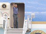 President Barack Obama waves before departing on Air Force One at Miami International Airport, Wednesday, April 22, 2015, in Miami. (AP Photo/Wilfredo Lee)