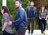"Picture Shows: Ben Affleck, Jennifer Garner  April 24, 2015\n \n Actors Ben Affleck and Jennifer Garner step out together in Brentwood, California.\n \n Ben has apologized for attempting to remove a segment about his slave owning ancestors on PBS show 'Finding Your Roots.' Affleck took to Facebook to say, ""I was embarrassed. The very thought left a bad taste in my mouth. I regret my initial thoughts that the issue of slavery not be included in the story. We deserve neither credit nor blame for our ancestors and the degree of interest in this story suggests that we are, as a nation, still grappling with the terrible legacy of slavery. It is an examination well worth continuing. I am glad that my story, however indirectly, will contribute to that discussion.""\n \n Non Exclusive\n UK RIGHTS ONLY\n \n Pictures by : FameFlynet UK © 2015\n Tel : +44 (0)20 3551 5049\n Email : info@fameflynet.uk.com"