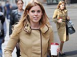 24.APRIL.2015 - LONDON - UK\n*** EXCLUSIVE ALL ROUND PICTURES ***\nGRAND DAUGHTER TO QUEEN ELIZABETH II, PRINCESS BEATRICE WAS SEEN IN MAYFAIR CLUTCHING A COFFEE WHILE HER SECURITY GUARD WAS HOLDING HER SHOPPING. BEATRICE WAS CARRYING ONE OF HER OWN BAGS FROM KARL LAGERFELD\nBYLINE MUST READ : XPOSUREPHOTOS.COM\n***UK CLIENTS - PICTURES CONTAINING CHILDREN PLEASE PIXELATE FACE PRIOR TO PUBLICATION ***\n**UK CLIENTS MUST CALL PRIOR TO TV OR ONLINE USAGE PLEASE TELEPHONE  442083442007