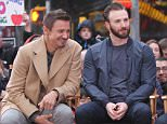 The Cast of the 'Avengers: Age of Ultron' Robert Downey Jr, Mark Ruffalo, Chris Evans and Jeremy Renner pictured pictured during an interview at the 'Good Morning America' show in Times Square, Manhattan.\n\nPictured: Chris Evans, Robert Downey Jr, Jeremy Renner and Mark Ruffalo\nRef: SPL1007467  240415  \nPicture by: Jose Perez / Splash News\n\nSplash News and Pictures\nLos Angeles: 310-821-2666\nNew York: 212-619-2666\nLondon: 870-934-2666\nphotodesk@splashnews.com\n