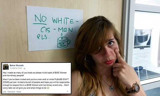 Goldsmiths University diversity officer banned white cis men from 'anti-racism' event