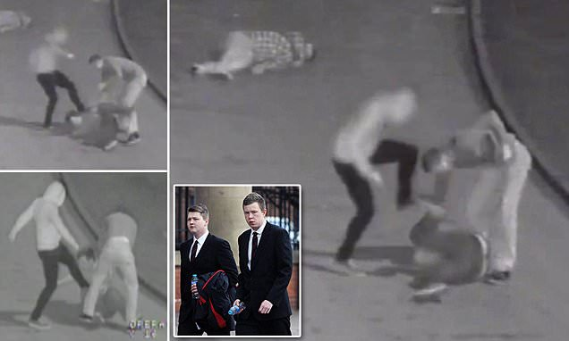 Shocking moment drunken soldiers including Buckingham Palace guardsman carried out
