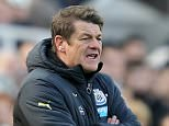 NEWCASTLE UPON TYNE, ENGLAND - APRIL 19:  John Carver, manager of Newcastle United looks on during the Barclays Premier League match between Newcastle United and Tottenham Hotspur at St James' Park on April 19, 2015 in Newcastle upon Tyne, England.  (Photo by Jan Kruger/Getty Images)