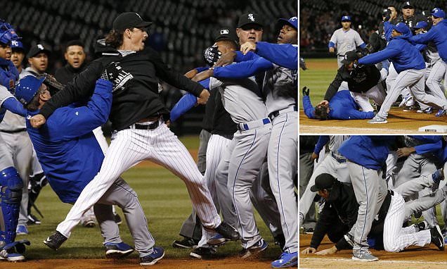 MLB game descends into chaos as players from Kansas City Royals and Chicago White Sox get