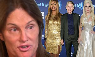 Lady Gaga, Laverne Cox, Ellen DeGeneres and Miley Cyrus offer support as Bruce Jenner
