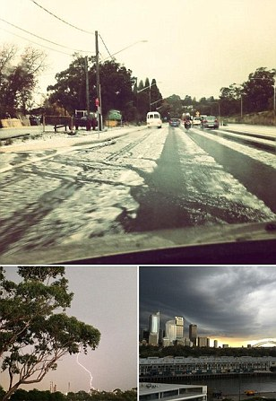 Just when you thought it was safe to go outside: Sydney smashed by fierce hailstorm and