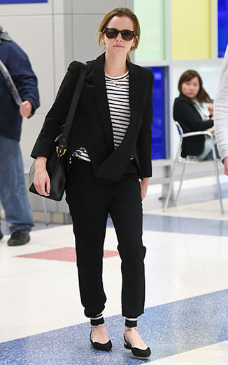 Emma Watson kept it casual at the airport