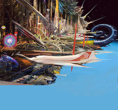 Viva SPACE Vegas! Artist imagines fantastical future of spaceflight