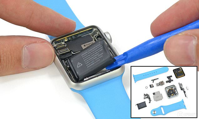 Apple Watch taken apart to reveal what's inside including its tiny battery