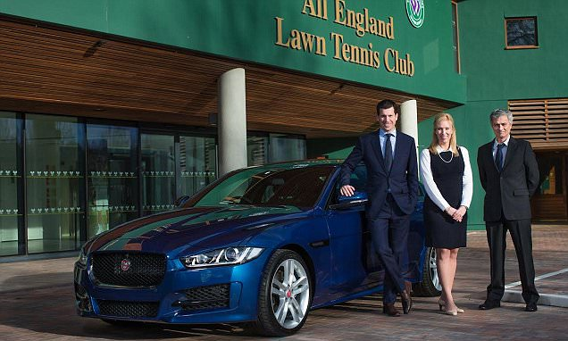Jaguar Land Rover serves up doubles act  supplying cars for Wimbledon