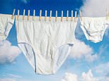 White Pants Drying On Washing Line, One Giant Pair, Kingsize small..big..going..go..creative..camera..image..picture..photographer..photograph..photography..composition..lines..concept..original..new..one..for..be..a..they..him..me..who..how..when..what..does..can..with..it..and..the..full
