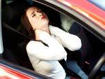 Girl massaging neck    whiplash injuries  necks