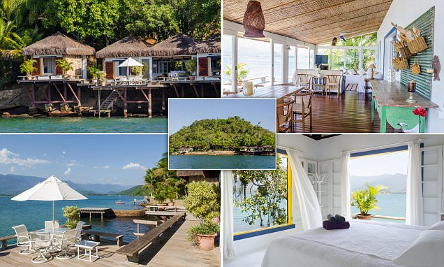 Brazilian island with its own heliport and an idyllic private beach