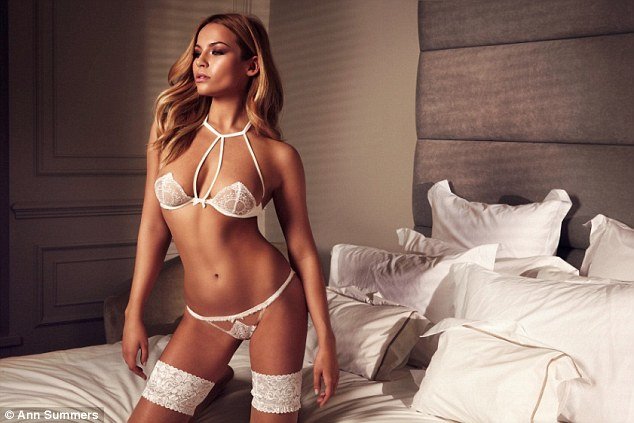 Modelling the collection - priced between £14 and £85 - is Emma Louise Connolly, the current face of Ann Summers and the bombshell girlfriend of Made in Chelsea's Ollie Proudlock