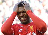 Liverpool's Daniel Sturridge (L) reacts during the English FA Cup quarter final soccer match between Liverpool and Blackburn Rovers at the Anfield in Liverpool, Britain, 08 March 2015.     EPA/PETER POWELL NO ONLINE/INTERNET USE WITHOUT A LICENSE FROM THE FOOTBALL DATA CO.LTD.  epa04654012