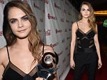 LAS VEGAS, NV - APRIL 23:  Actress Cara Delevingne attends The CinemaCon Big Screen Achievement Awards Brought to you by The Coca-Cola Company at OMNIA Nightclub at Caesars Palace during CinemaCon, the official convention of the National Association of Theatre Owners, on April 23, 2015 in Las Vegas, Nevada.  (Photo by Michael Buckner/Getty Images for CinemaCon)