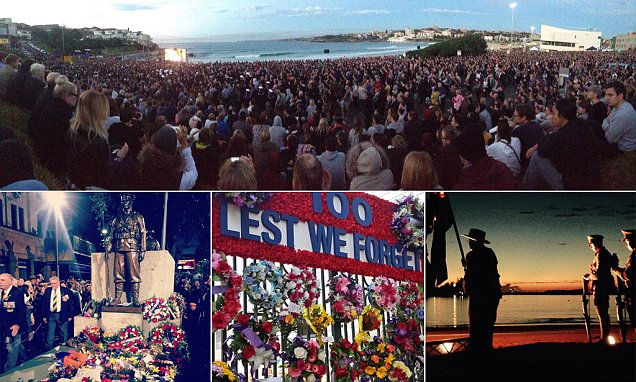 They will not be forgotten: Australians post stirring pictures from dawn services around