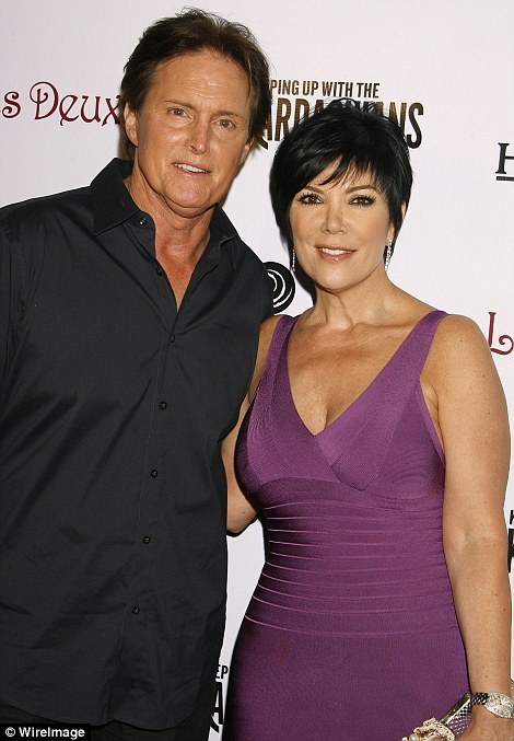 Former couple: After Bruce divorced from Kris  last December, Chrystie Crownover - his first love and an interior designer - spoke out about the rumors that he was transitioning. 'I just want him to be happy,' said Crownover. Above, Bruce and Kris are seen together in 2008