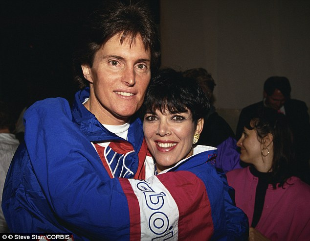 Change of heart: Bruce has revealed Kris Jenner knew he had started a gender transition in the 1980s. But he says he stopped hormone injections  before the couple married. He's seen here with Kris in February 1993