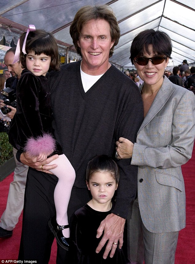 Family man:  Bruce and Kris tied the knot in April 1991 just months after meeting. Seen here in 2000 with their daughters Kendall and Kylie, the couple were married for 22 years. Bruce found fame again with a whole new generation thanks to the reality series about their blended family Keeping Up With The Kardashians