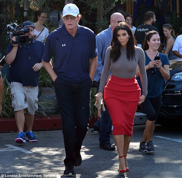Bruce revealed Kim Kardashian was the first of his stepdaughters to see him in a dress