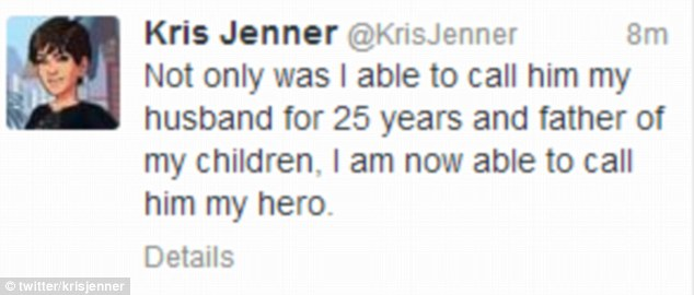 Her own way: Kris issued this statement of her own on Twitter after the interview