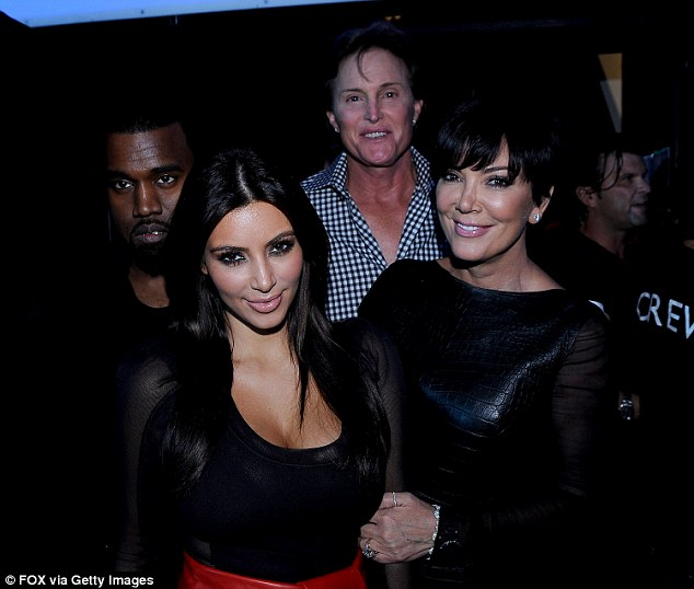 Bruce revealed Kim was the first of his stepdaughters to find out about his secret after seeing him in a dress