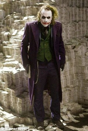 Well-charted territory: In 2008, Heath Ledger scored a posthumous Oscar for his menacing rendition of a scarred, lipstick-smeared Joker in The Dark Knight