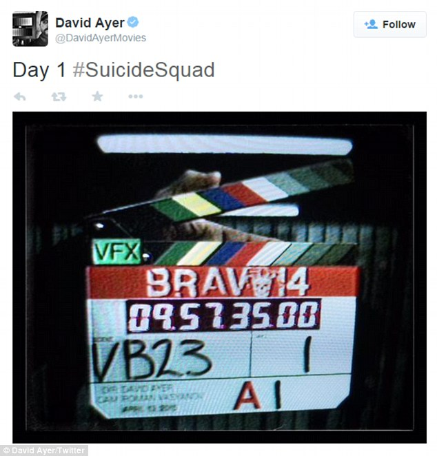 'Day 1 #SuicideSquad': The My So-Called Life heartthrob will be going back and forth to Toronto through September to film Suicide Squad