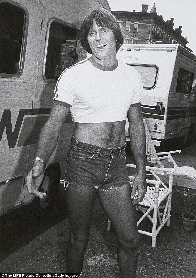 Go West: Bruce, seen here in costume on set, appeared in the 1980 Village People movie Can't Stop The Music