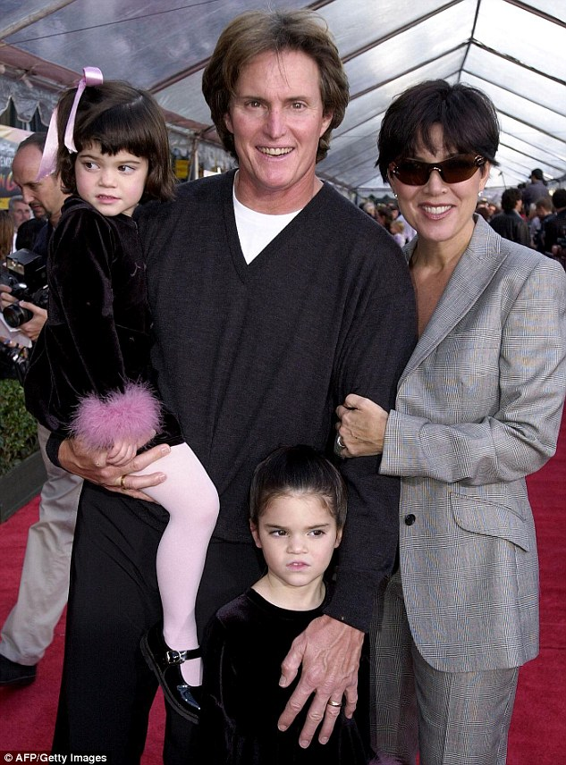 More kids: Bruce and Kris added two daughters to their blended brood. They're seen here with  Kendall and Kylie at a Hollywood red carpet event in 2000