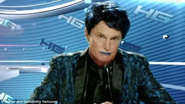 Bold: Bruce appeared in the 2014 spoof movie The Hungover Games wearing blue lipstick and brown eyebrow pencil