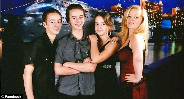 Devastated family: Sawyer, left, Sullivan and Madilyn with their other sister Maysa (second from right)