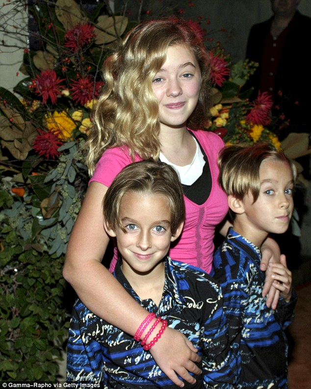 The child actor (left) is pictured with Sullivan and Madylin in 2004, a year before the show's final season