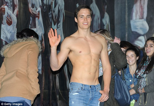 Popular feature: While the brand has come under fire on a number of occasions for its overtly sexualized marketing tactics, the shirtless models are still seen as something of a tourist attraction by many
