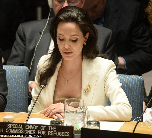 Jolie made a powerful speech before the UN where she urged council members to visit Syrian refugees and see the crisis for themselves