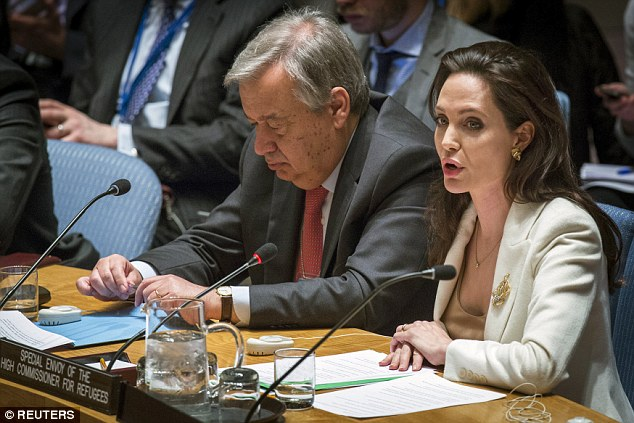 Jolie described the Syrian crisis as the 'lowest point in the world's inability to protect and defend the innocent'